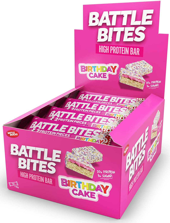 Battle Bites Protein Bar – Birthday Cake