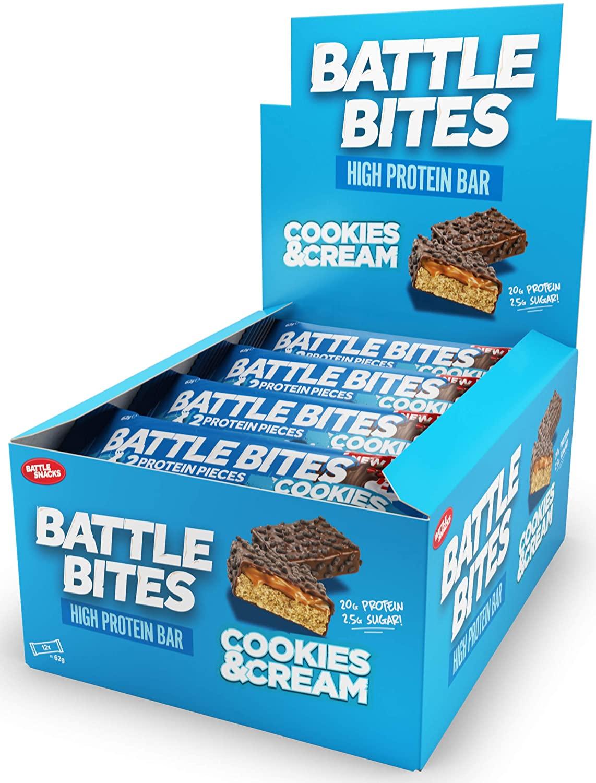 Battle Bites Protein Bar – Cookies & Cream