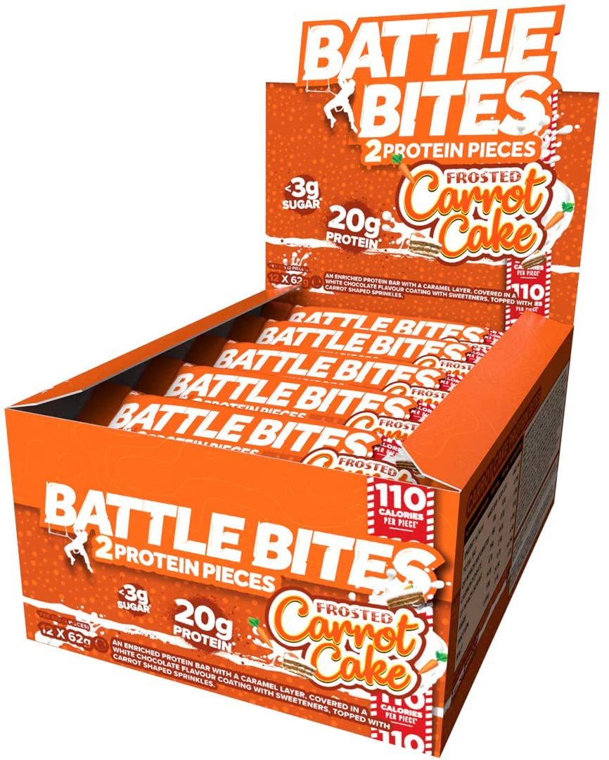 Battle Bites Protein Bar – Frosted Carrot Cake