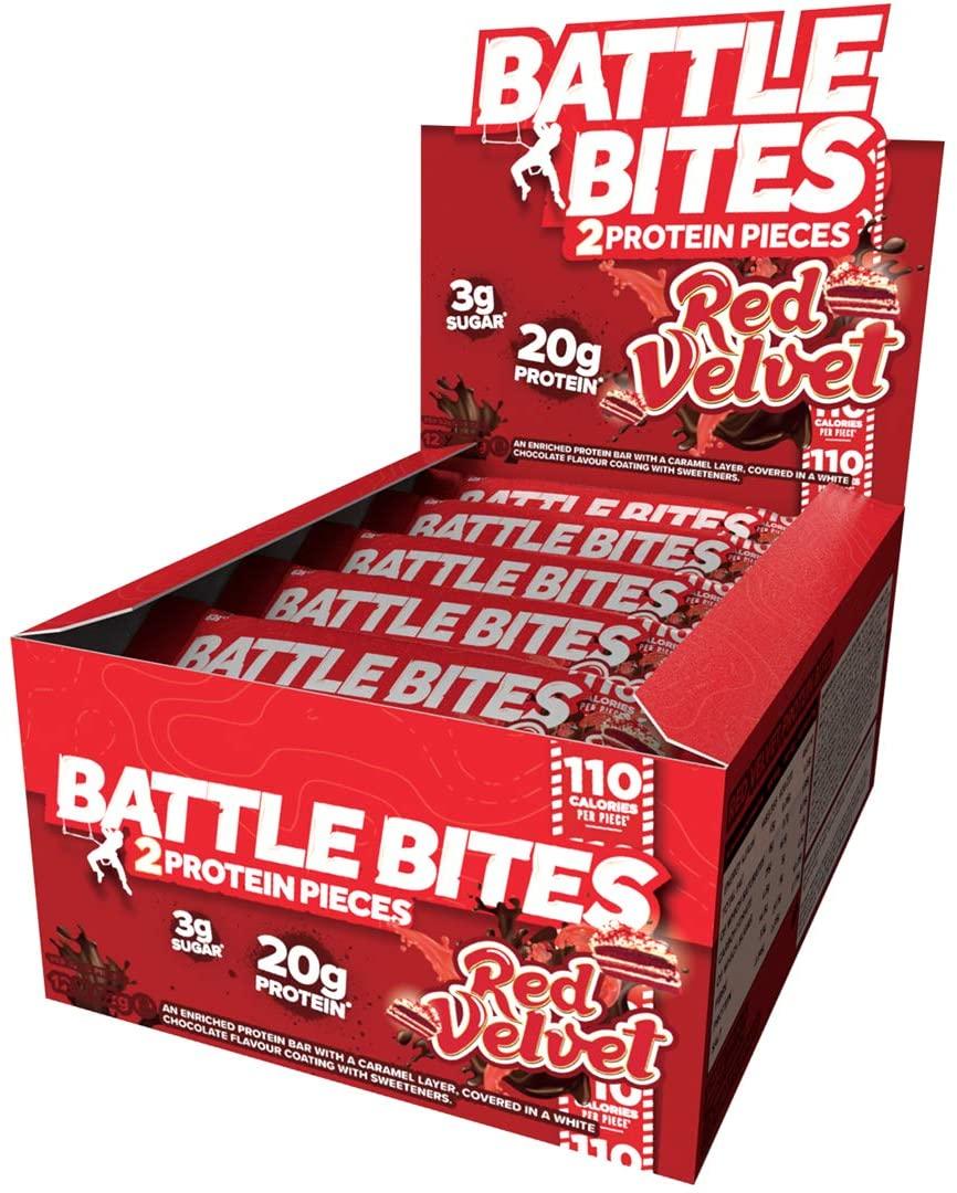 Battle Bites Protein Bar – Red Velvet