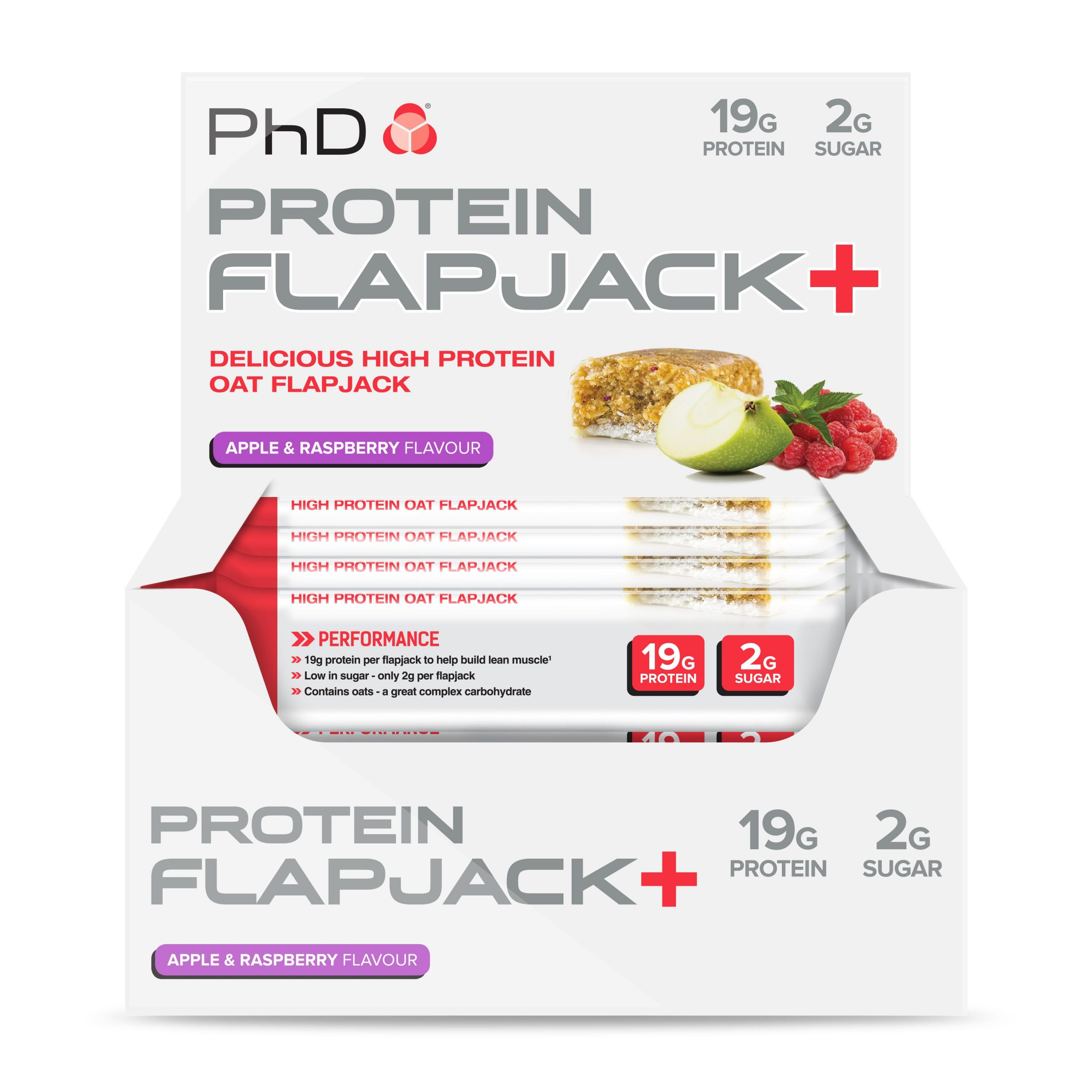 PHD Protein Flapjack+ – Apple & Raspberry