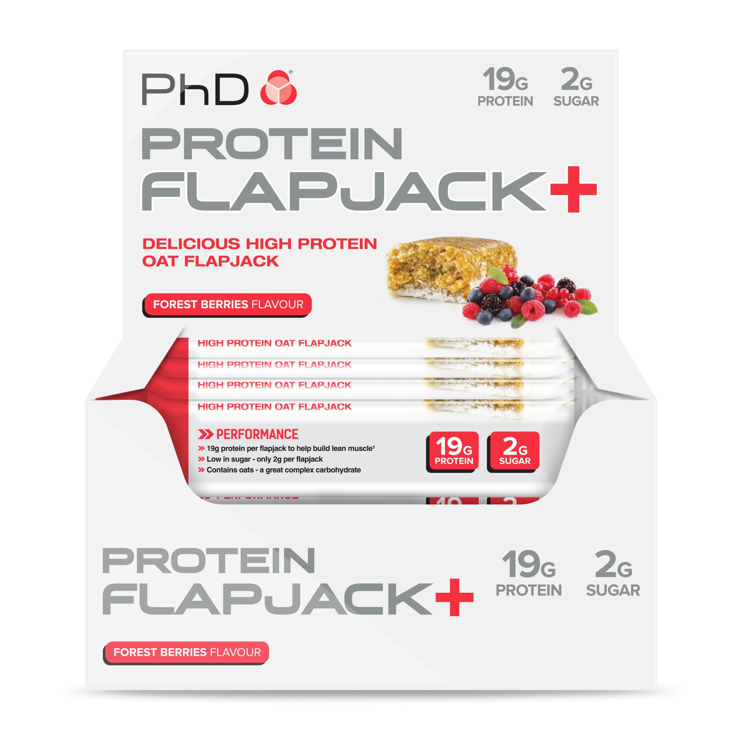 PHD Protein Flapjack+ – Forest Berries