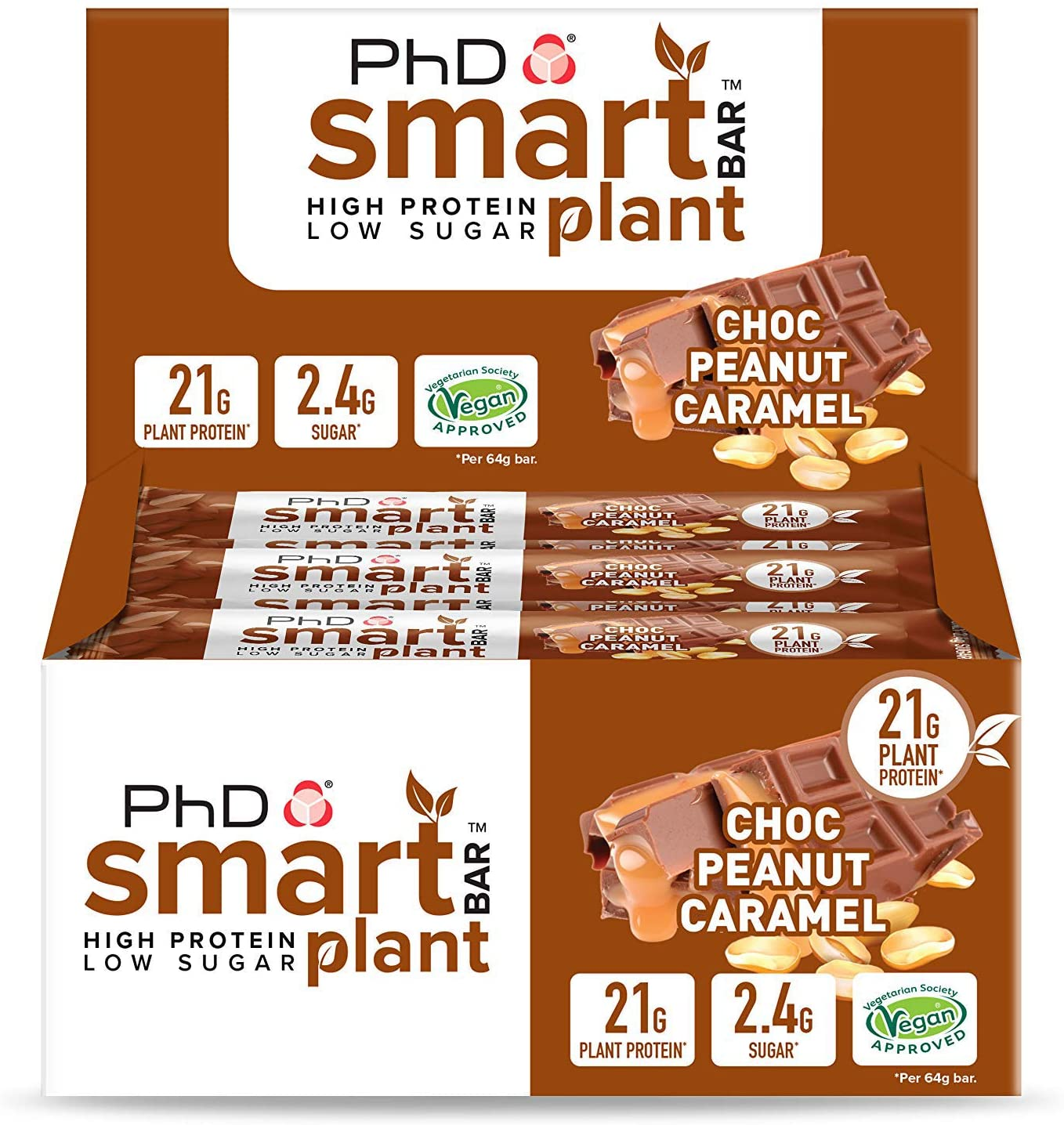PHD Smart Bar Plant – Chocolate Peanut Caramel